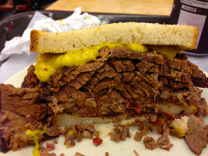 Katz Deli's Brisket Sandwich