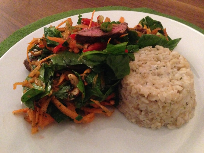 Thai Beef Salad with Brown Coconut Rice